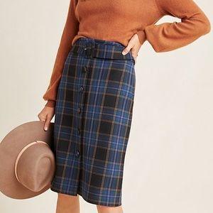 Anthropologie Bernadette Plaid Skirt - Size 8